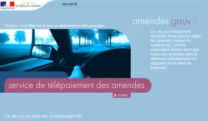 Accueil amendes.gouv.fr