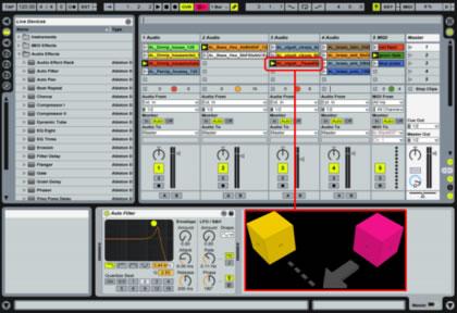 Configuration des AudioCubes sous Ableton Live