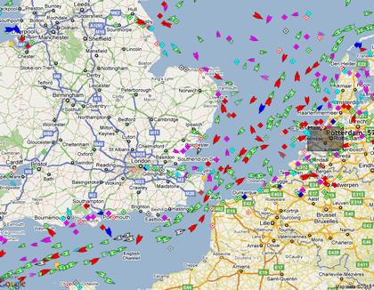 Trafic maritime en Manche