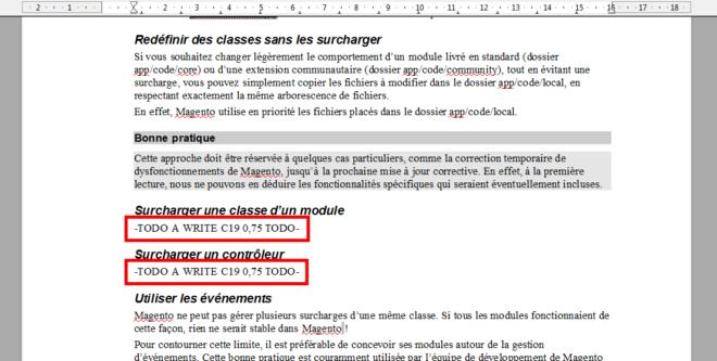 Marqueurs de tâches dans OpenOffice