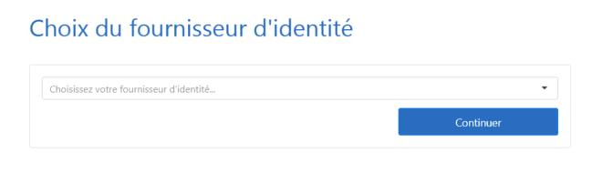 Sélecteur de choix du fournisseur d'identité